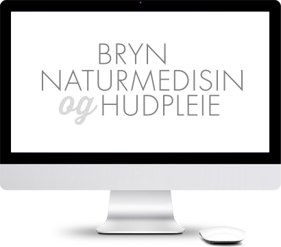 Datamaskin med Bryn Natyrmedisin logo